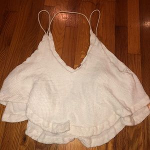 Free People White Tank Top